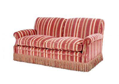 Two seater divided back sofa