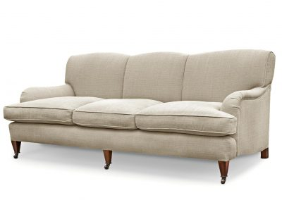 Three seater divided back sofa
